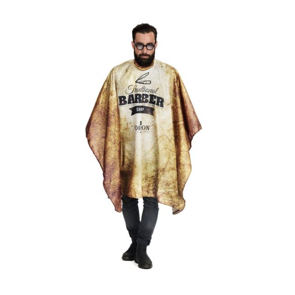 Barber cutting cape with Barber Shop print
