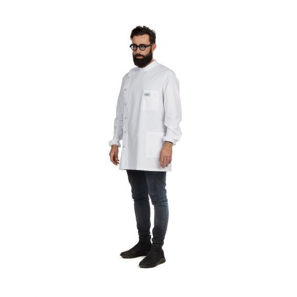 Camice bianco da barbiere Gordon taglia XL