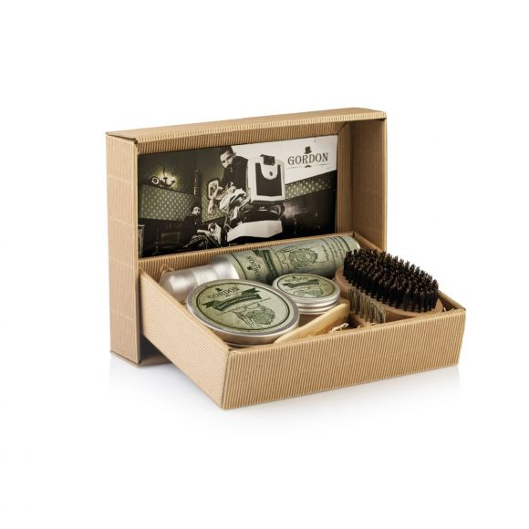 Gordon beard and moustache gift box kit