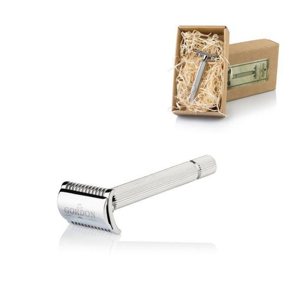 Vintage safety razor in chrome brass