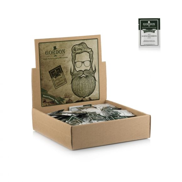Gordon disposable beard cleansing wipes